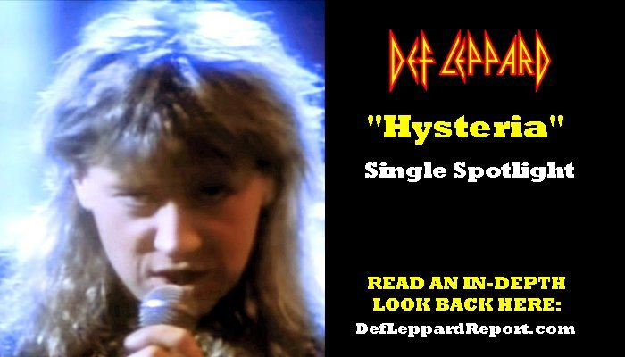 Def Leppard Song Hysteria Single Article