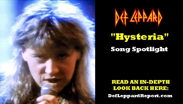 Def Leppard Song Hysteria   The Lep Report
